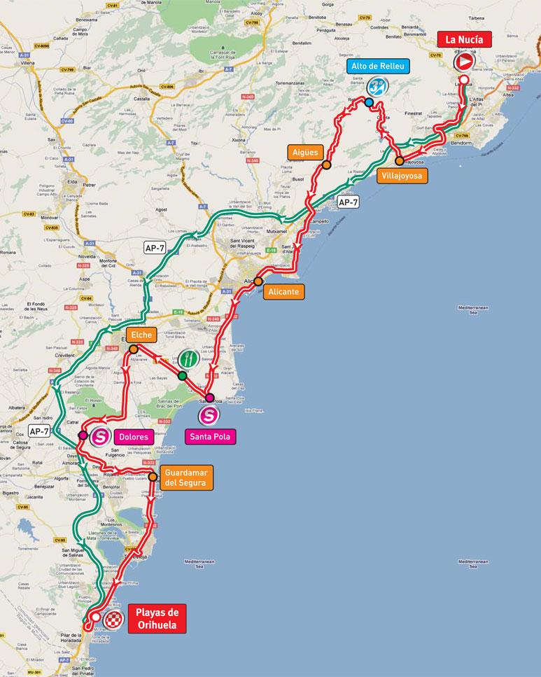 Playas de Orihuela Spain  city photos gallery : La Vuelta 2011 – Stage 02