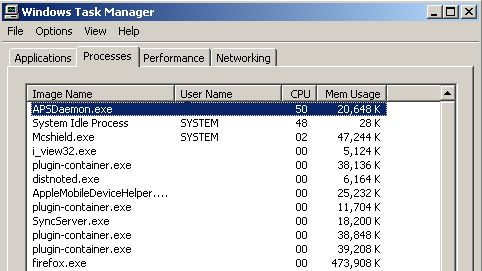APSDaemon.exe give me back my CPU! | Visible Procrastinations