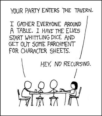 XKCD - tabletop roleplaying